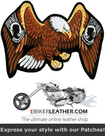 Motorcycle Leather Jacket Patch by eBikerLeather.com