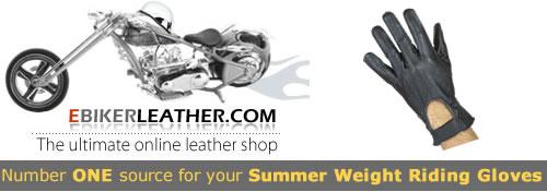Summer Weight Driving Gloves at eBikerLeather.com