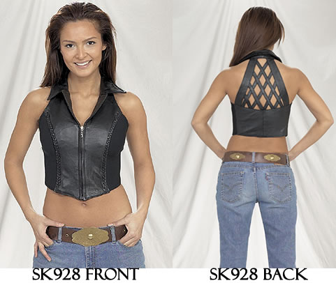 Ladies Halter Top at eBikerLeather.com