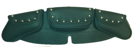 Motorcycle Windshield Tool Bag with Flame