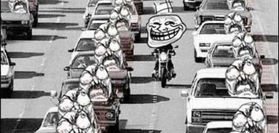 Bikers seem to be happier riding motorcycle to work than people in cars.