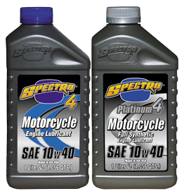 Spectro Synthetic Oil and Regular Oil for Motorcycles