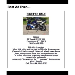 Funny Motorcycle Ad