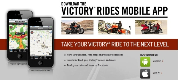 Victory Motorcycle Mobile Application