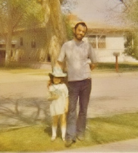 Age 5 with Daddy